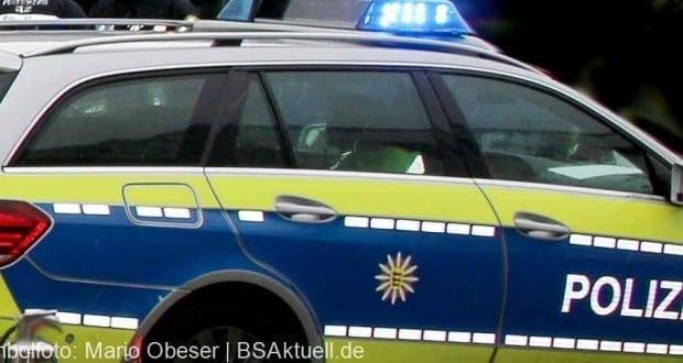 Polizeifahrzeug Blau mit Blaulicht Ulm