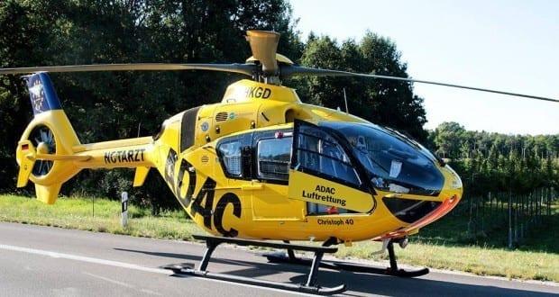 Rettungshubschrauber Augsburg gelandet
