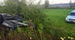 Verkehrsunfall Gundelfingen Fahrzeuggespann 01