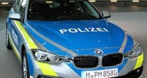 Polizeifahrzeug der Bayerischen Polizei