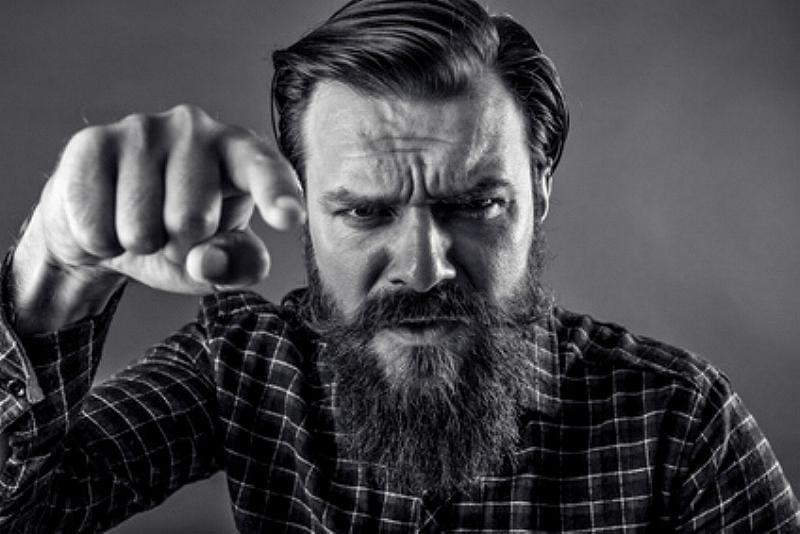 Mann Streit Zorn