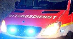 Rettungswagen mit Frontblitzer