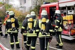 Brand Wohnhaus in Gloettweng Atemschutz