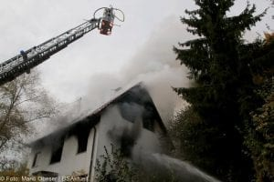 Brand Wohnhaus Gloettweng Kreis Guenzburg