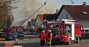 Wohnhaus brannte in Ziemetshausen