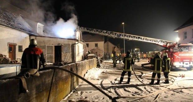 Brand in Wohnhaus in Aislingen im KReis Dillingen