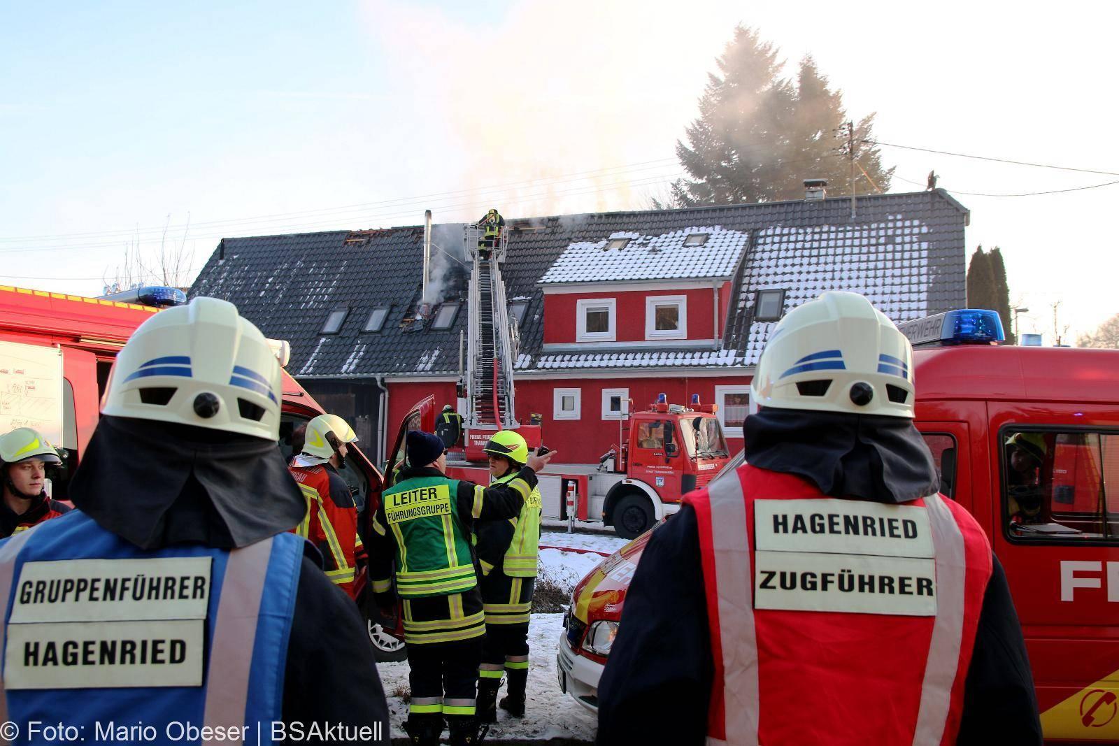 Brand eines Dachstuhles in Burtenbach im Kreis Günzburg