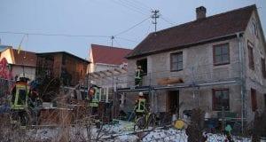 Zimmerbrand in Unterelchingen in einem Gebäude