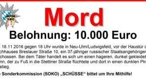 Fahndung Mord Ludwigsfeld Titel