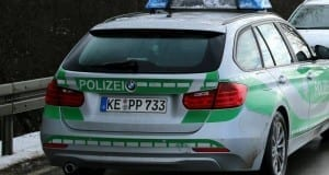 Polizeiauto Schnee Winter