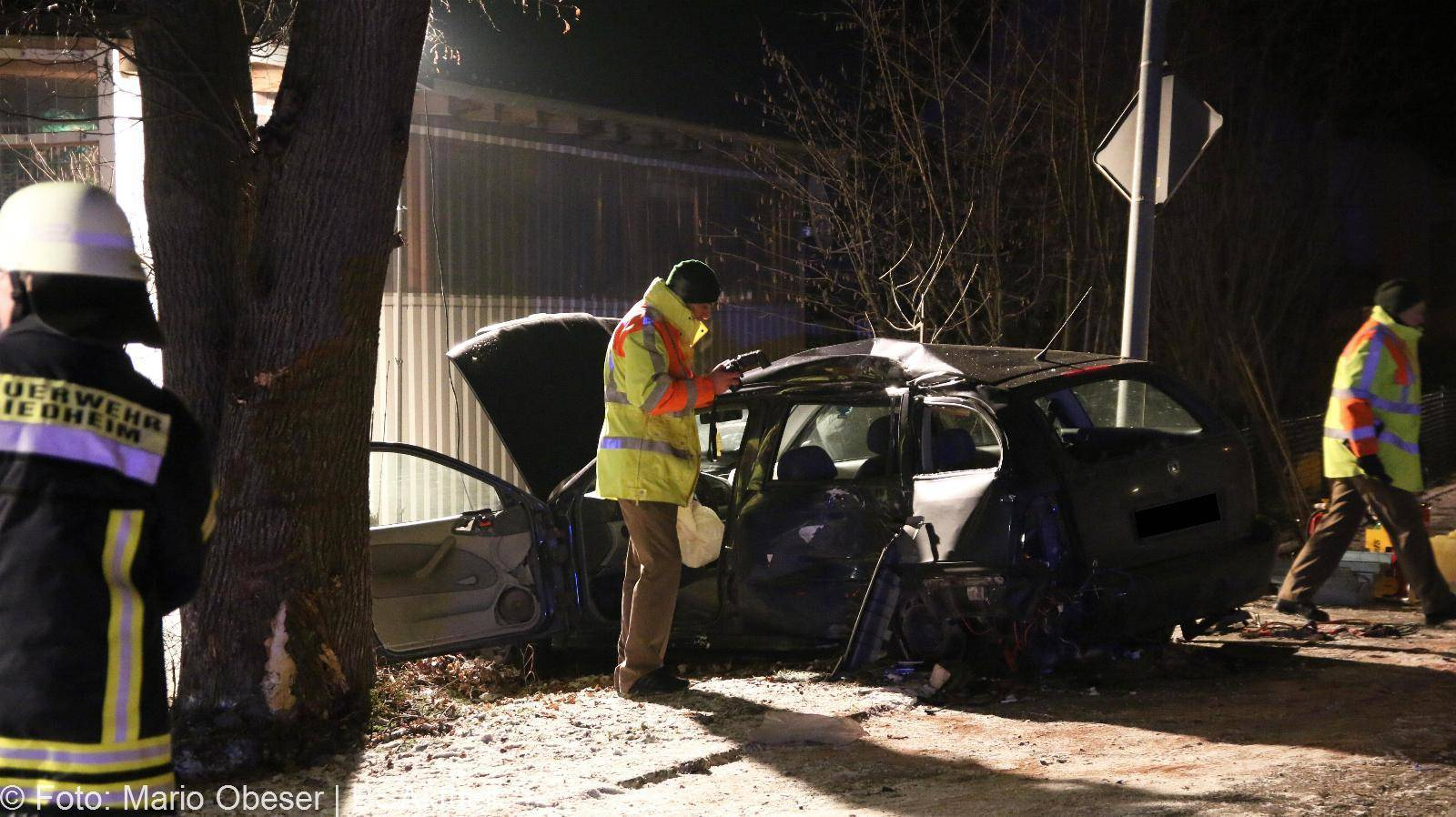 Schwerer Verkehrsunfall in Riedheim Kreis Günzburg