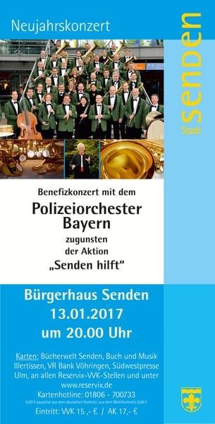 Flyer zum Konzert des Polizeiorchesters Bayern