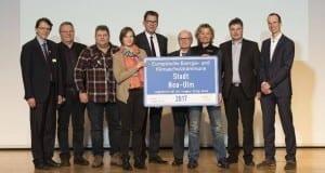 Neu-Ulm Auszeichnung für Klimaschutzpolitik