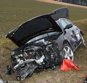 Unfall bei Unterknöringen am 03.02.2017