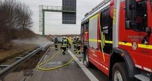 Feuerwehr Leipheim Brand Seitenstreifen