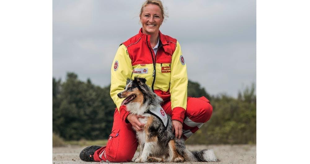Michaela Saiko und ihr Hund Silver