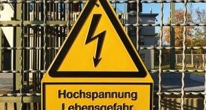 Strom Pfeil Hochspannung