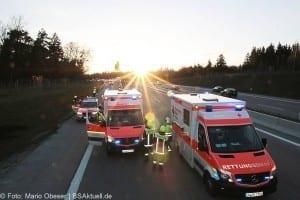 Unfall A8 bei Zusmarshausen am 10032017 11