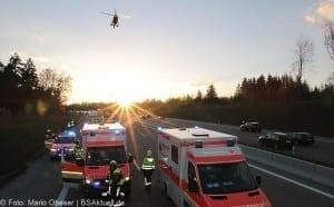 Unfall A8 bei Zusmarshausen am 10032017 13