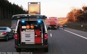 Unfall A8 bei Zusmarshausen am 10032017 15