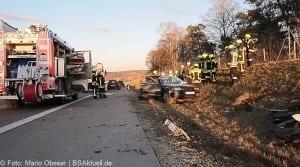 Unfall A8 bei Zusmarshausen am 10032017 6