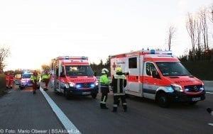 Unfall A8 bei Zusmarshausen am 10032017 8