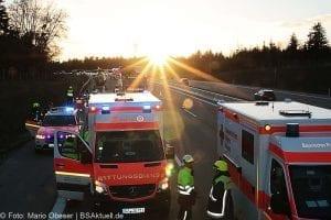 Unfall A8 bei Zusmarshausen am 10032017 9