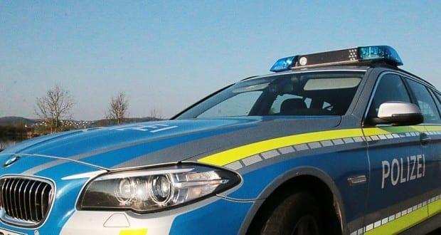 Polizeifahrzeug blau