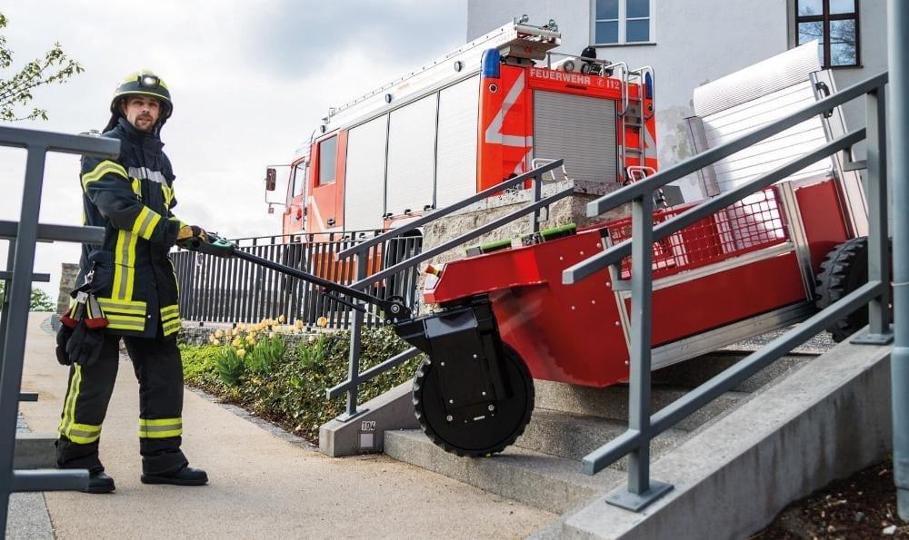 Elektrisch angetriebene Rettungstechnik-Rollcontainer