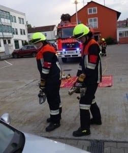 Leistungsprüfung bei der Freiwilligen Feuerwehr Günzburg
