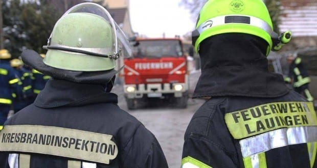 Feuerwehr Lauingen und Kreisfeuerwehrinspaktion Dillingen