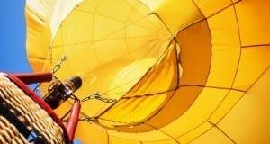 Heissluftballon am Himmel