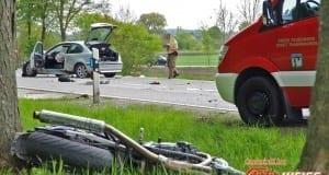Toedlicher Unfall Motorrad gegen PKW 04