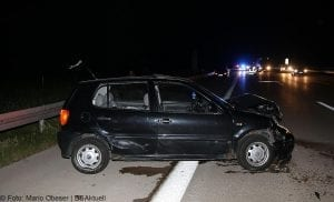 Verkehrsunfall auf der A8 bei Burgau am 31.05.2017.