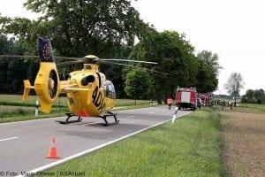Verkehrsunfall Motorradfahrer und Traktor GZ4 Kreis Guenzburg 1