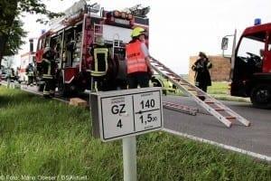 Verkehrsunfall Motorradfahrer und Traktor GZ4 Kreis Guenzburg 7