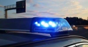 Blaulicht Autobahn Polizeiauto