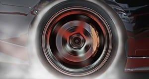 Durchdrehender Reifen