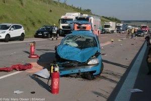 Unfall A8 zwischen Guenzburg-Burgau am 03062017 2