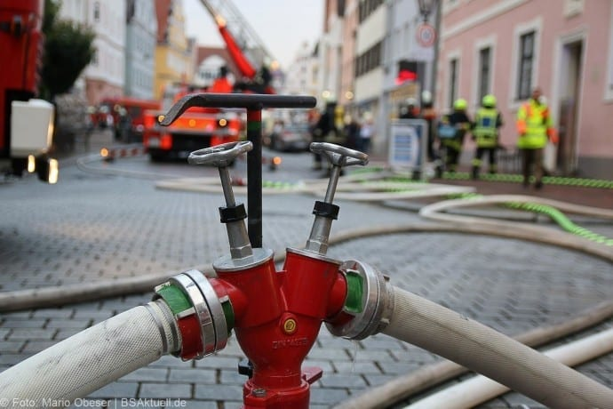 Brand im Rathaus Dillingen Donau am 26.07.2017