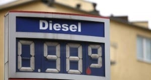 Diesel-Preis an einer Tankstelle