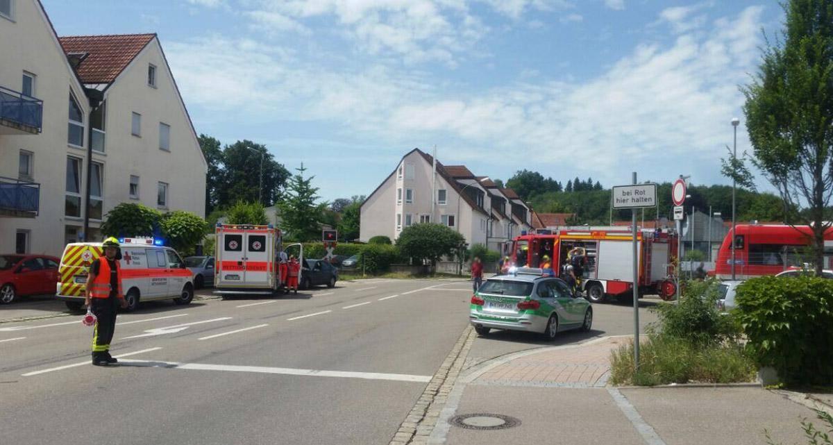 Unfall Bahnübergang Krumbach am 09.07.2017
