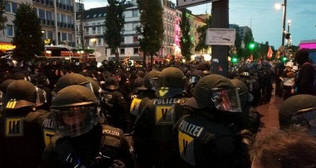 Polizei im Anti-G20 Einsatz – dts