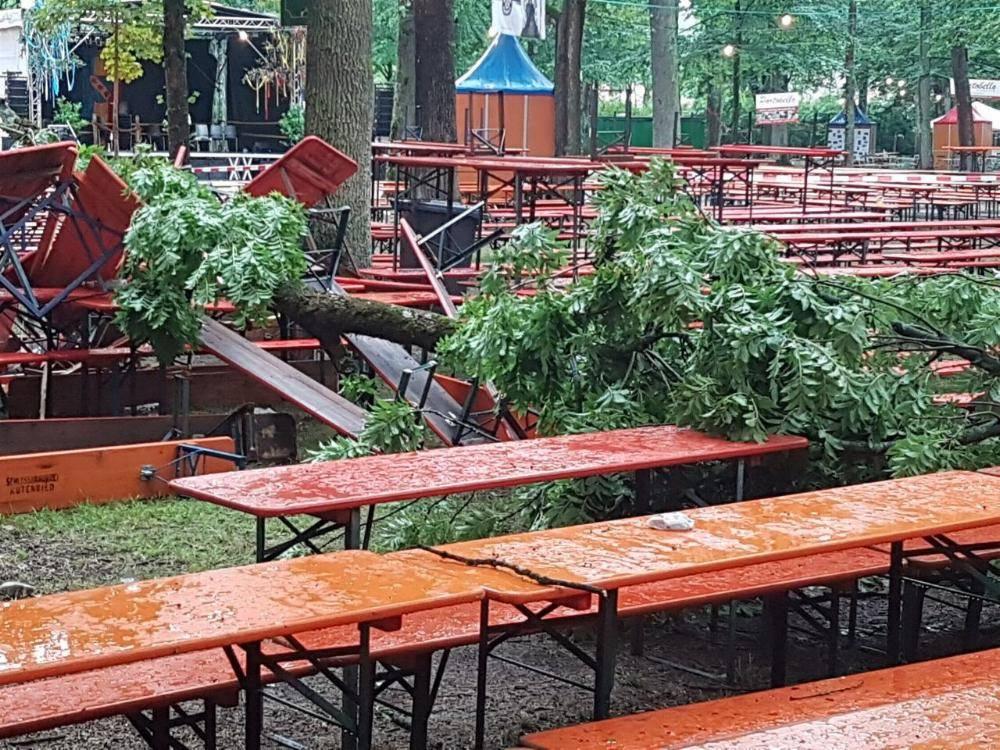 Unwetter Kinderfest Leipheim 09.07.2017