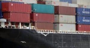 Container im Containerbahnhof