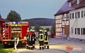 Kleinbrand in Erisweiler im Greis Günzburg