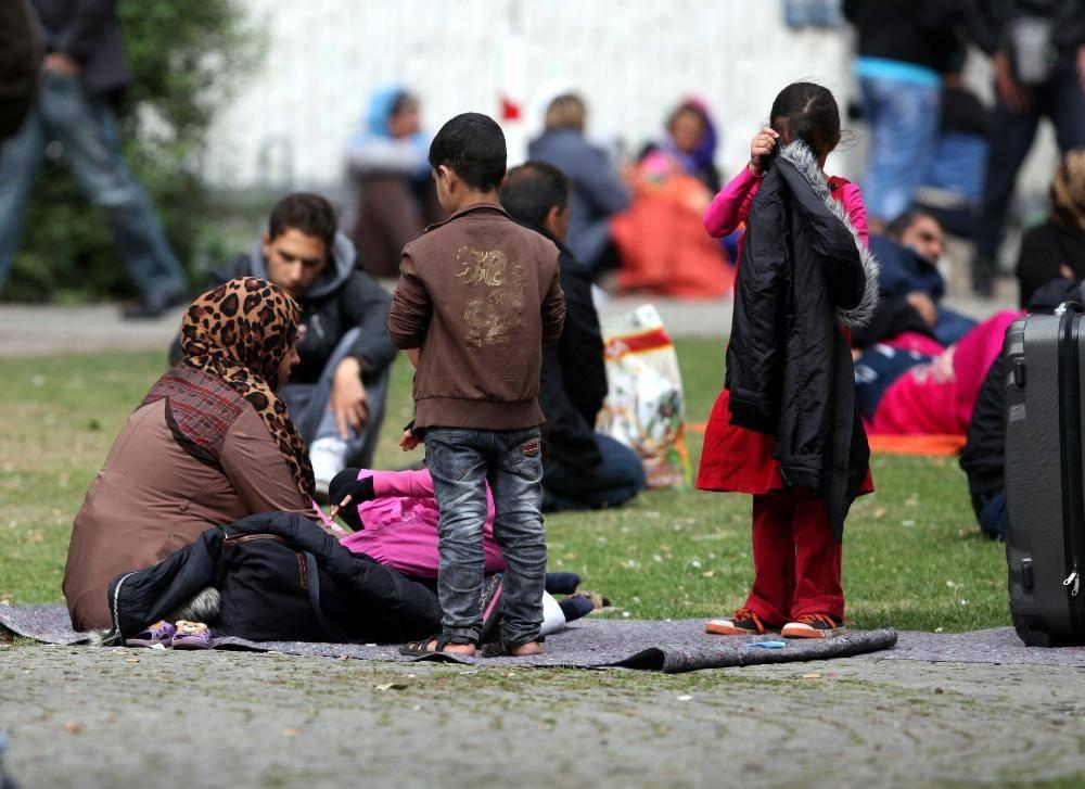 Fluechtlinge an Aufnahmestelle_dts