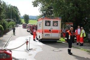 Dinkelscherben - Ortsteil Grünenbaindt Brand Stadel