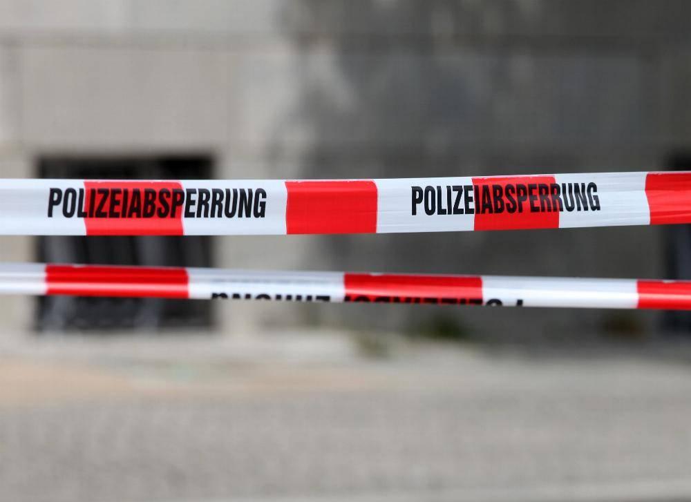 Polizeiabsperrung Polizei
