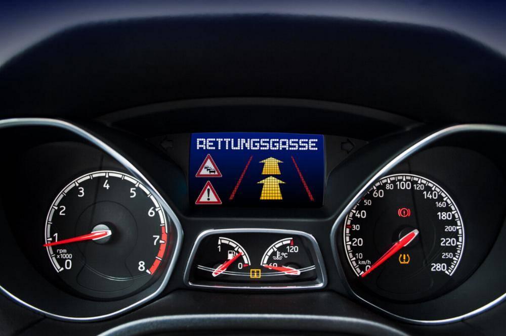Rettungsgasse Hinweis
